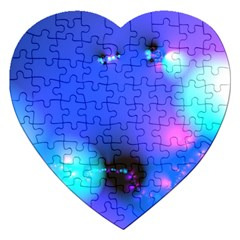 Love In Action, Pink, Purple, Blue Heartbeat 10000x7500 Jigsaw Puzzle (Heart)