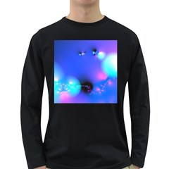 Love In Action, Pink, Purple, Blue Heartbeat 10000x7500 Men s Long Sleeve T-shirt (Dark Colored)