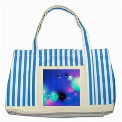 Love In Action, Pink, Purple, Blue Heartbeat 10000x7500 Blue Striped Tote Bag