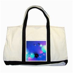 Love In Action, Pink, Purple, Blue Heartbeat 10000x7500 Two Toned Tote Bag