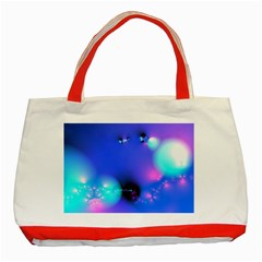 Love In Action, Pink, Purple, Blue Heartbeat 10000x7500 Classic Tote Bag (Red)