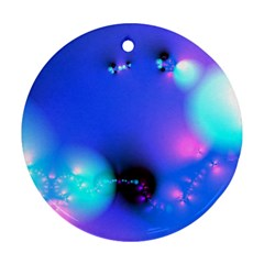 Love In Action, Pink, Purple, Blue Heartbeat 10000x7500 Round Ornament (Two Sides)