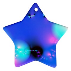 Love In Action, Pink, Purple, Blue Heartbeat 10000x7500 Star Ornament (Two Sides)