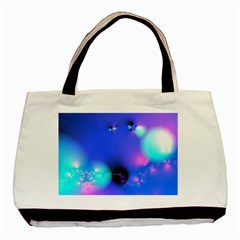 Love In Action, Pink, Purple, Blue Heartbeat 10000x7500 Twin-sided Black Tote Bag