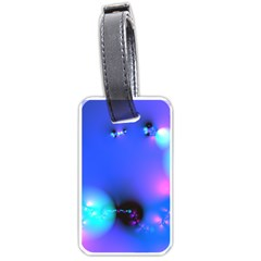 Love In Action, Pink, Purple, Blue Heartbeat 10000x7500 Luggage Tag (one Side)