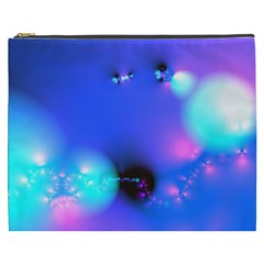 Love In Action, Pink, Purple, Blue Heartbeat 10000x7500 Cosmetic Bag (XXXL)