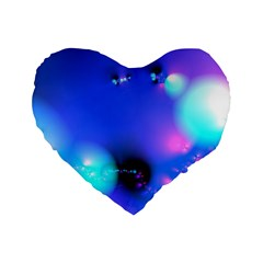 Love In Action, Pink, Purple, Blue Heartbeat 10000x7500 16  Premium Heart Shape Cushion