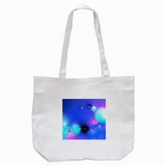 Love In Action, Pink, Purple, Blue Heartbeat 10000x7500 Tote Bag (White)