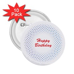Halftone Circle With Squares 2 25  Button (10 Pack)