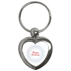 Halftone Circle With Squares Key Chain (heart)