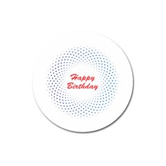 Halftone Circle With Squares Magnet 3  (Round)