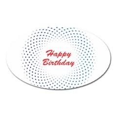 Halftone Circle With Squares Magnet (Oval)