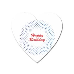Halftone Circle With Squares Magnet (Heart)