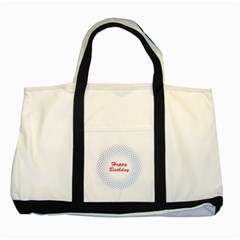 Halftone Circle With Squares Two Toned Tote Bag