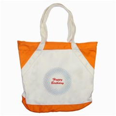 Halftone Circle With Squares Accent Tote Bag