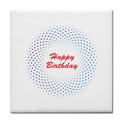 Halftone Circle With Squares Face Towel