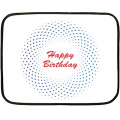 Halftone Circle With Squares Mini Fleece Blanket (Two Sided)
