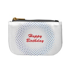 Halftone Circle With Squares Coin Change Purse