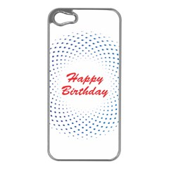 Halftone Circle With Squares Apple Iphone 5 Case (silver)