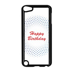 Halftone Circle With Squares Apple iPod Touch 5 Case (Black)