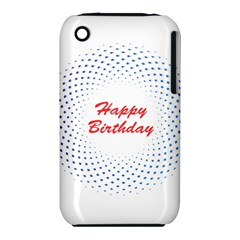 Halftone Circle With Squares Apple Iphone 3g/3gs Hardshell Case (pc+silicone)