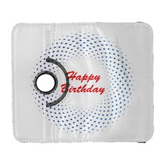 Halftone Circle With Squares Samsung Galaxy S  III Flip 360 Case