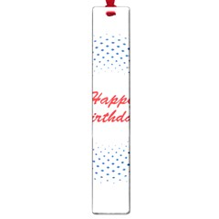 Halftone Circle With Squares Large Bookmark