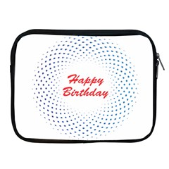Halftone Circle With Squares Apple Ipad Zippered Sleeve