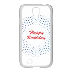 Halftone Circle With Squares Samsung Galaxy S4 I9500/ I9505 Case (white)