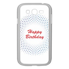 Halftone Circle With Squares Samsung Galaxy Grand DUOS I9082 Case (White)