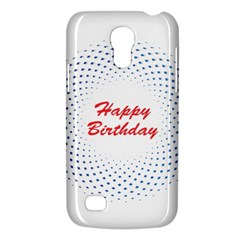 Halftone Circle With Squares Samsung Galaxy S4 Mini (gt I9190) Hardshell Case