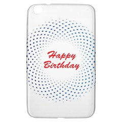 Halftone Circle With Squares Samsung Galaxy Tab 3 (8 ) T3100 Hardshell Case