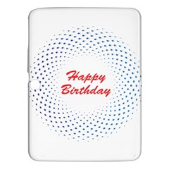 Halftone Circle With Squares Samsung Galaxy Tab 3 (10.1 ) P5200 Hardshell Case