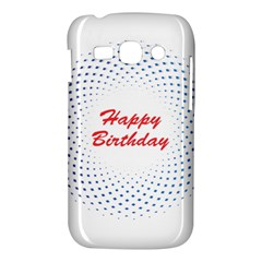 Halftone Circle With Squares Samsung Galaxy Ace 3 S7272 Hardshell Case