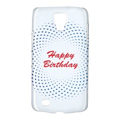 Halftone Circle With Squares Samsung Galaxy S4 Active (i9295) Hardshell Case