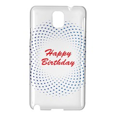 Halftone Circle With Squares Samsung Galaxy Note 3 N9005 Hardshell Case