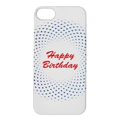 Halftone Circle With Squares Apple iPhone 5S Hardshell Case
