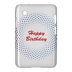 Halftone Circle With Squares Samsung Galaxy Tab 2 (7 ) P3100 Hardshell Case
