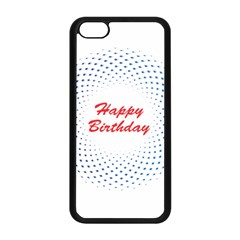 Halftone Circle With Squares Apple Iphone 5c Seamless Case (black)