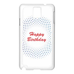 Halftone Circle With Squares Samsung Galaxy Note 3 N9005 Case (White)