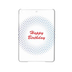 Halftone Circle With Squares Apple iPad Mini 2 Hardshell Case