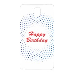 Halftone Circle With Squares Samsung Galaxy Note 3 N9005 Hardshell Back Case