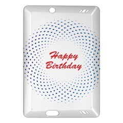 Halftone Circle With Squares Kindle Fire HD 7  (2nd Gen) Hardshell Case