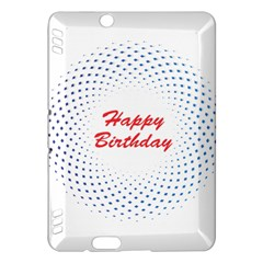 Halftone Circle With Squares Kindle Fire HDX 7  Hardshell Case