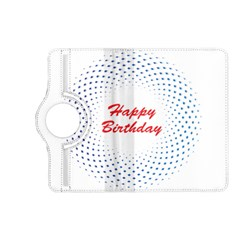 Halftone Circle With Squares Kindle Fire Hd 7  (2nd Gen) Flip 360 Case