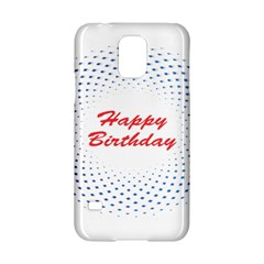 Halftone Circle With Squares Samsung Galaxy S5 Hardshell Case