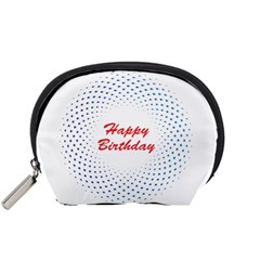 Halftone Circle With Squares Accessory Pouch (Small)