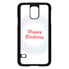 Halftone Circle With Squares Samsung Galaxy S5 Case (black)