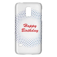 Halftone Circle With Squares Samsung Galaxy S5 Mini Hardshell Case
