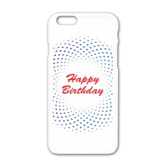 Halftone Circle With Squares Apple Iphone 6 White Enamel Case